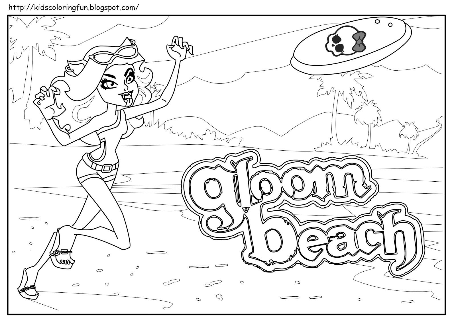 monster high coloring pages jinafire long gloom | Monster High Clawdeen Wolf