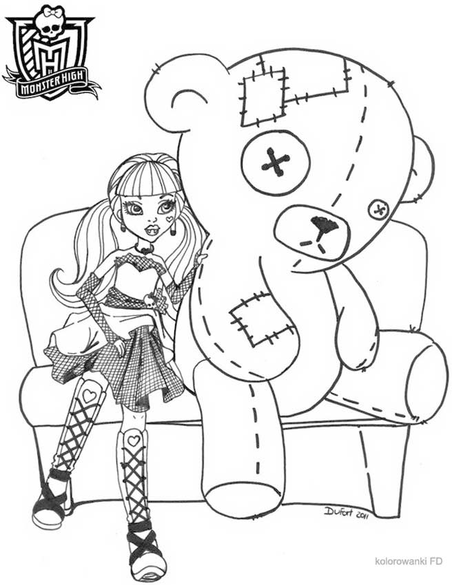 Monster High Kolorowanki Do Druku Fd