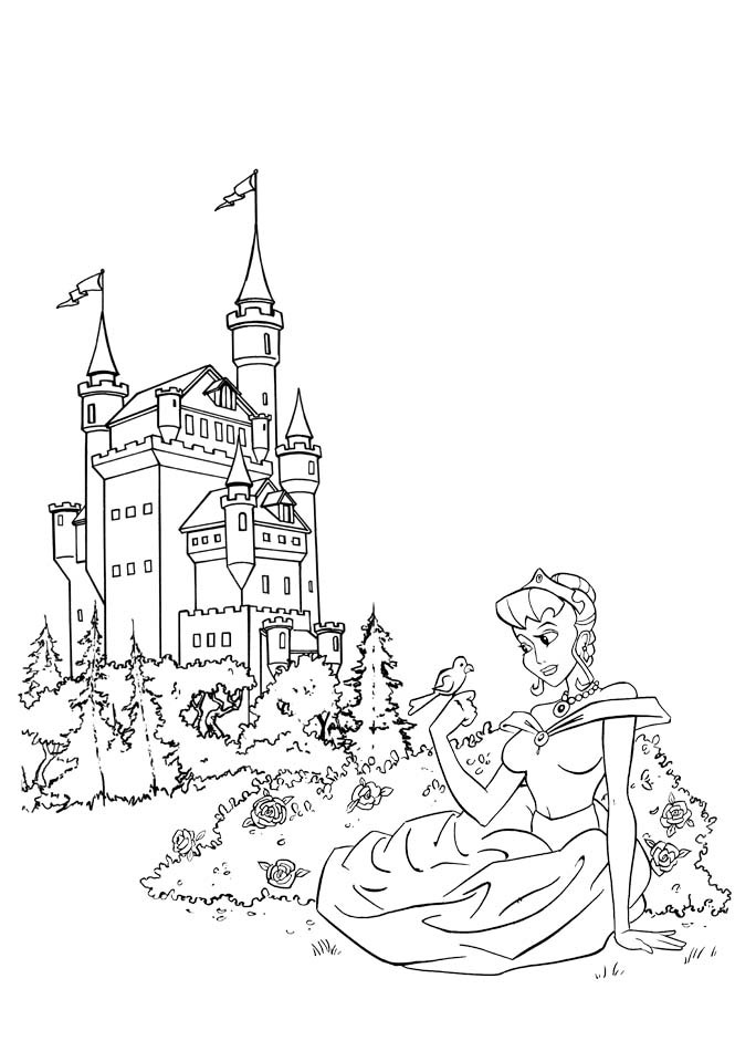 fantasy knights princesses coloring pages - photo#1