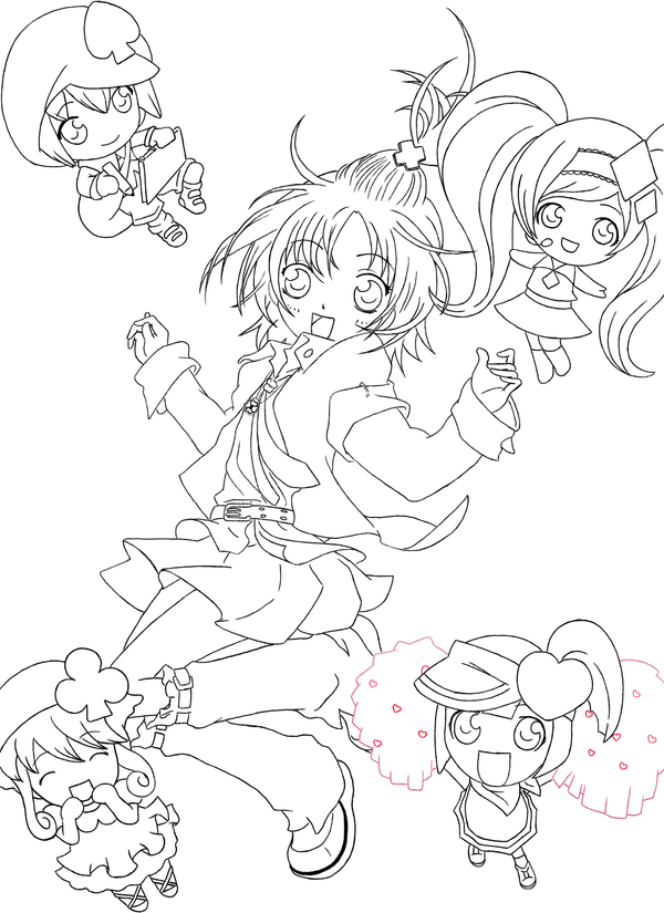 Shugo Chara 3 Coloring Pages Shugo Chara Coloring Pages