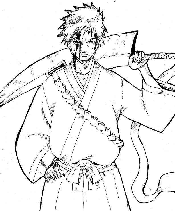 bleach coloring book pages - photo#13