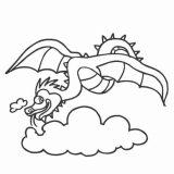 smok-w-chmurach-kolorowanka