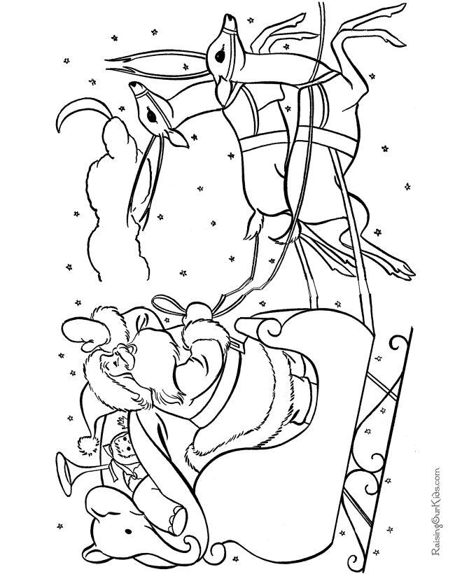 phelous santas slay coloring pages - photo#6