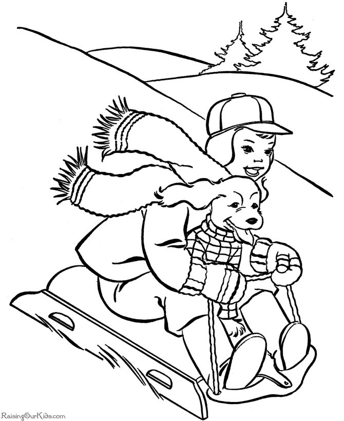 free snowbuddies coloring pages - photo#20