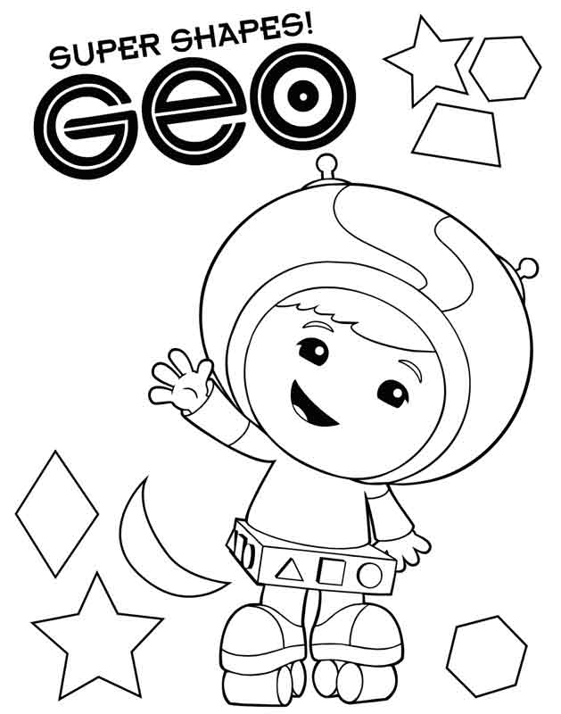 Team umizoomi milli coloring pages