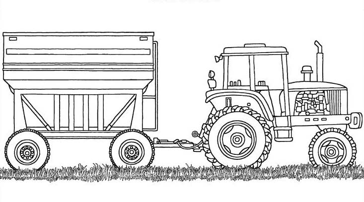 Truck on big fire truck coloring page