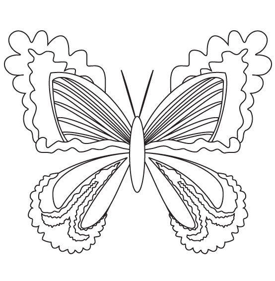 Motyl Kolorowanka Motyl Do Pomalowania Motyl Do Wydrukowania