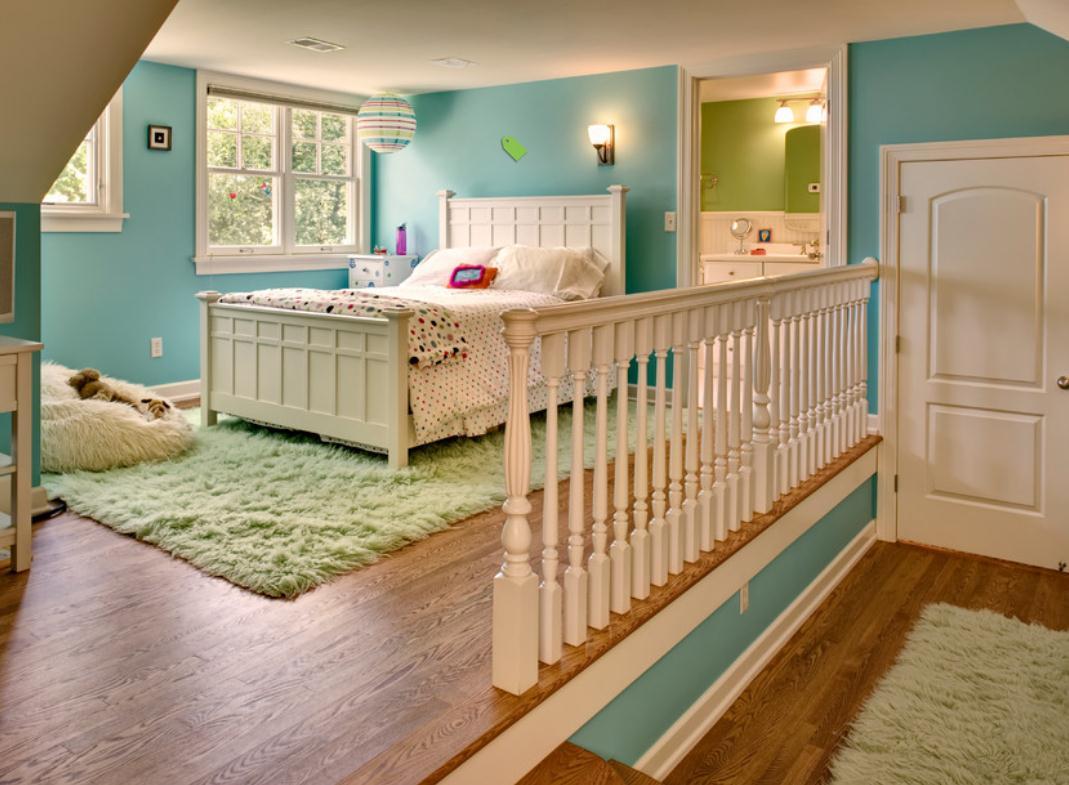 Pokoj dla dziewczynki 23 fd for Split level bedroom designs