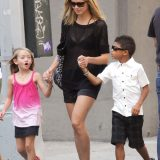 Heidi Klum Taking Her Kids For A Walk In New York