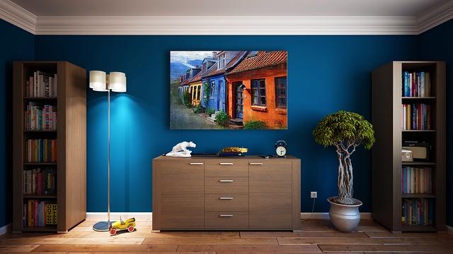 Obraz olejny na ścianie